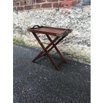 Image of Vintage 1950s Chinoiserie Traditional Tray Table