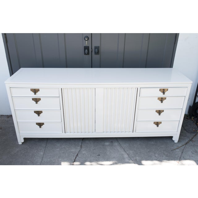 Image of Mid Century Chinoiserie Lacquered Credenza