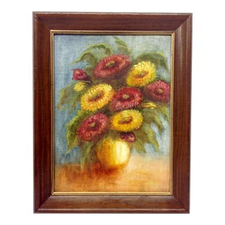 Mid-Century Oil Still Life Painting