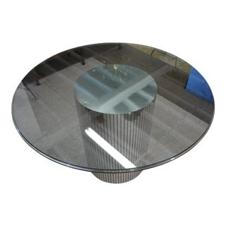Mid Century Modern Glass Mirrored Dining Table