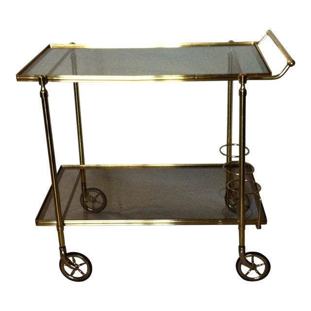 Image of Maison Baques Italian Brass Bar Cart