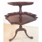 Image of Vintage Mahogany Two Tier Table