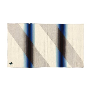 Teo Wool Rug in Blue Ombre - 3′ × 5′