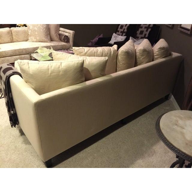 Image of Crate & Barrel Tan Linen Cannes Sofa