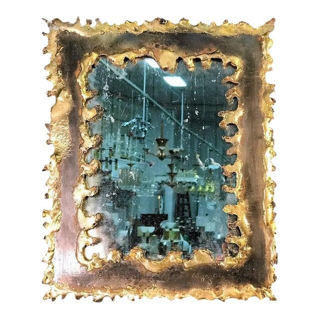 Paul Evans Style Brutalist Mirror - Image 1 of 8