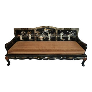 Chinoiserie Style Sofa With Inlaid Mother of Pearl