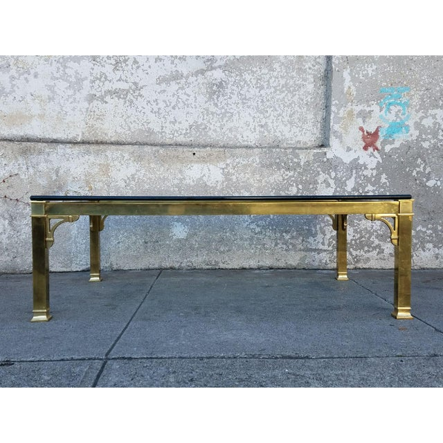Image of Mastercraft Brass & Glass Vintage Coffee Table