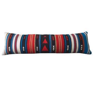 Red & Turquoise Flecha Wool Lumbar Pillow