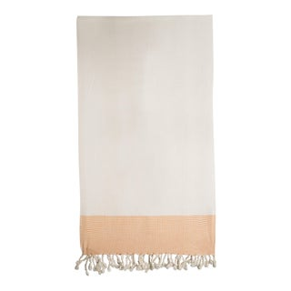 Orange & White Organic Cotton Turkish Towel