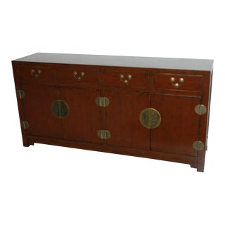 Asian Style Red Sideboard