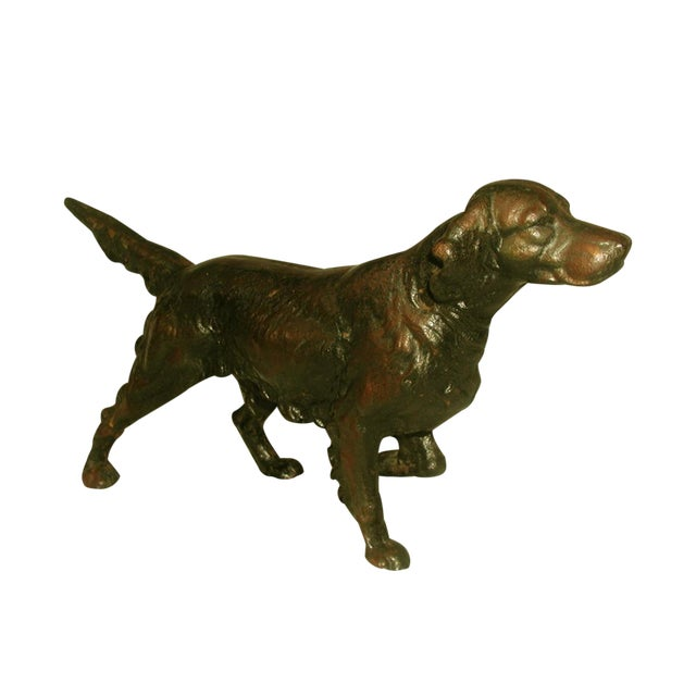 19th C. English Copper Cast Dog Setter - Image 1 of 8