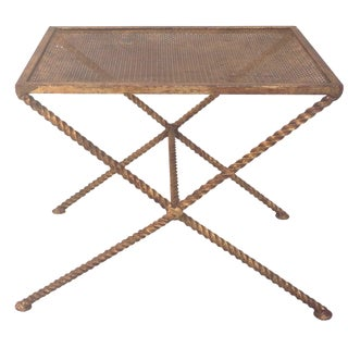 Italian Twisted Rope Gilt Vanity Stool