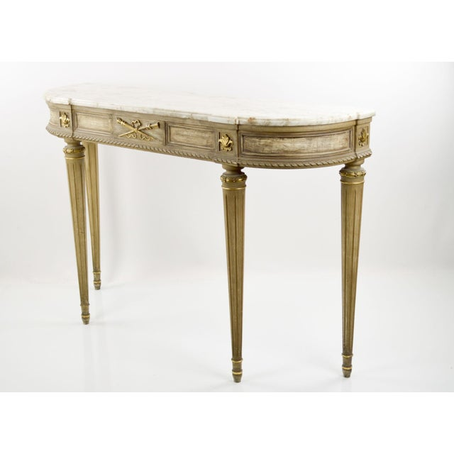Marble-Topped French Style Console Table - 1940s - Image 7 of 8