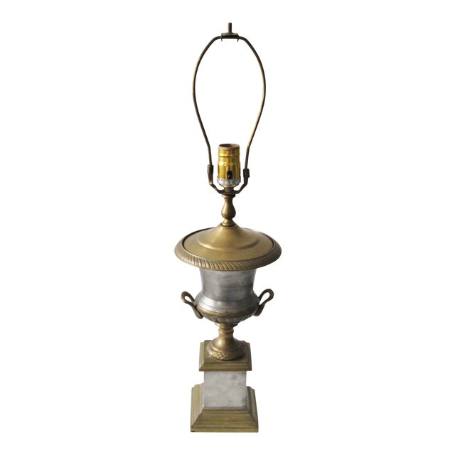 Neoclassical Trophy Urn Lamp - Image 1 of 6