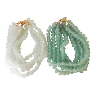Jumbo Glass Trade Bead Strands - Set of 10