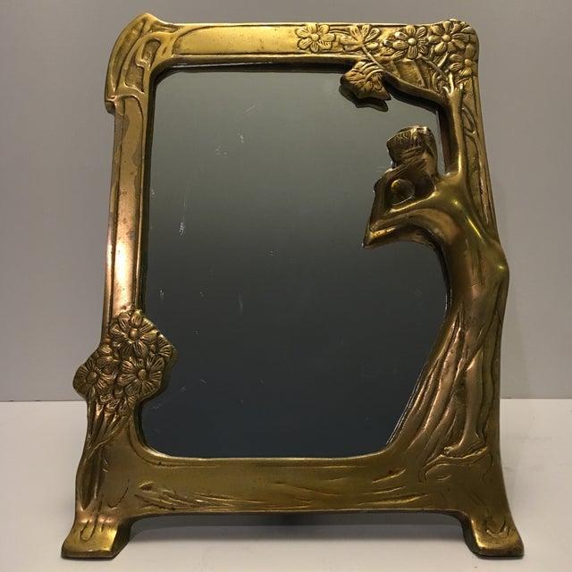Antique Art Nouveau Vanity Mirror - Image 2 of 6