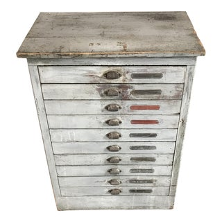 Grey Printer's File Cabinet