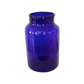 European Cobalt Canning Jar 13""