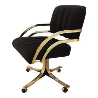 Vintage Daystrom Cantilever Brass Desk Chair
