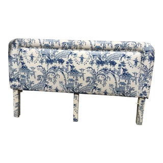 Chinoiserie Upholstered King Headboard