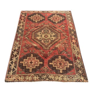 "Persian Distressed Shiraz Rug - 3'5"" x 5'"