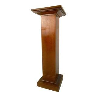 Vintage Modern Teak Pedestal W/ Decorative Inlay