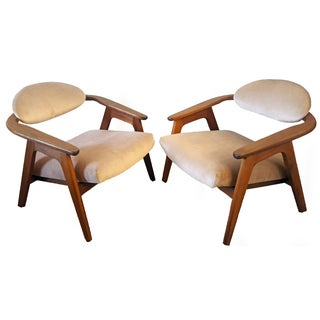 Adrian Pearsall Craft Captain Chairs - Pair