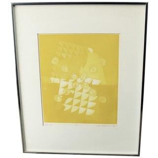 Abstract Silkscreen Yellow #4 by Sachi Tsutsumi