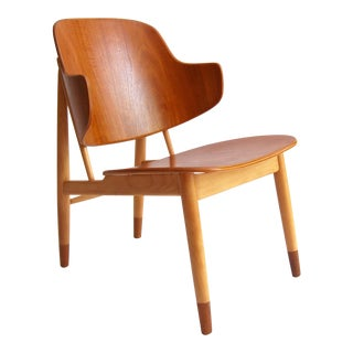 Ib Kofod-Larsen Vintage Danish Modern Shell Chair