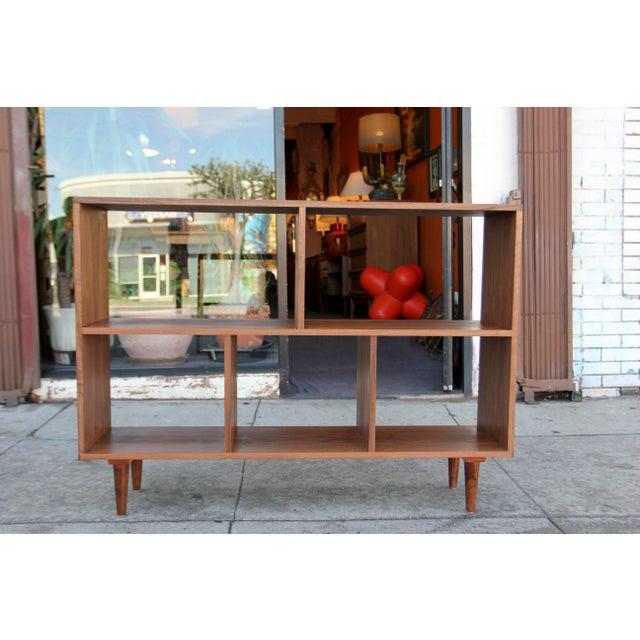 Modern Walnut Bookcase Shelf - Image 2 of 10