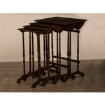Image of Set of Four Antique French Painted Nesting Tables circa 1890