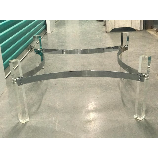 Mid-Century Lucite & Chrome Coffee Table - Image 4 of 6
