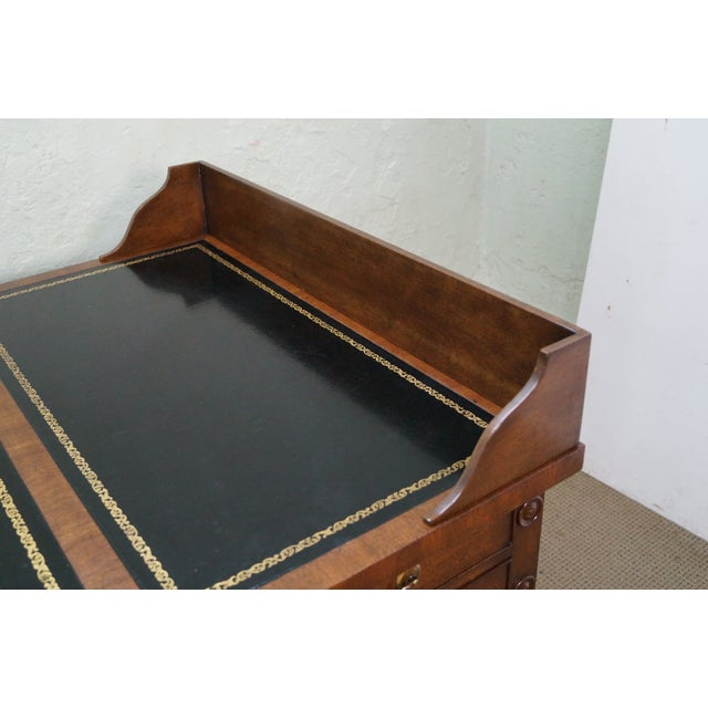 Custom Mahogany Leather Top George Washington Desk - Image 6 of 10