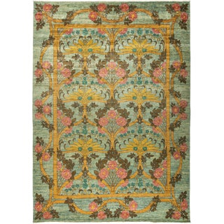 """Contemporary Arts & Crafts Hand-Knotted Rug - 9'10"""" x 13'6"""""""