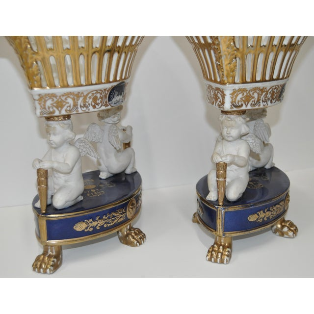Image of Early 20th Century Porcelain Planters - Pair