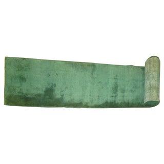 Emerald Green Turkish Runner - 2'5'' X 23'