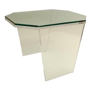 Unusual Mid-Century Octagonal Lucite Occasional Table
