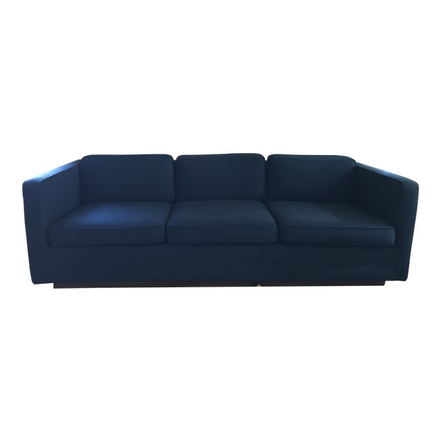 1970s Marden Mid-Century Blue Upholstered Sofa and Chair - Image 1 of 11