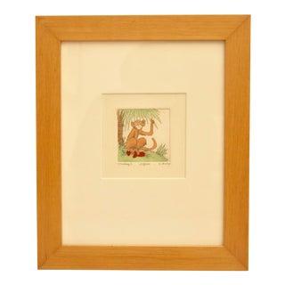 Limited Edition Monkey Art Print