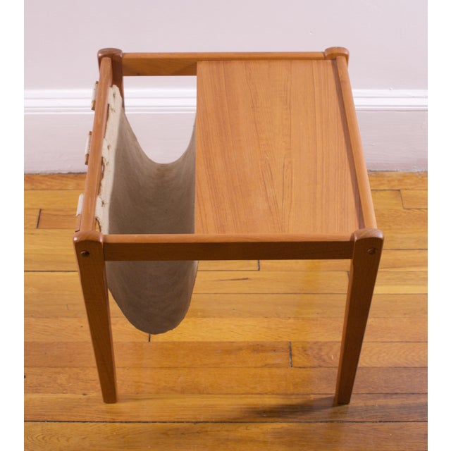 Mid-Century Furbo Danish Teak Side Table With Magazine Holder - Image 9 of 10