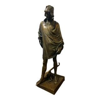 19th century Fabulous Bronze Sculpture of a Renaissance Artist -Signed Solid bronze sculpture