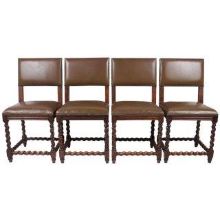 English Barley Twist Chairs - Set of 4