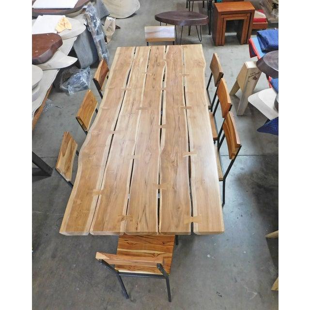 Coffee Table Teak Live Edge: Live Edge Teak Dining Table & 8 Chairs