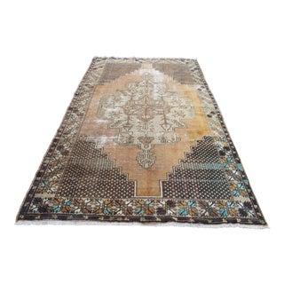 Vintage Turkish Floor Rug - 5′3″ × 9′