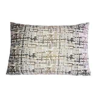 Abstract Plaid Lumbar Pillow
