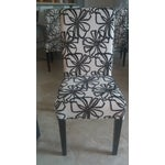 Image of Black & White Parsons Dining Chairs - Set of 6