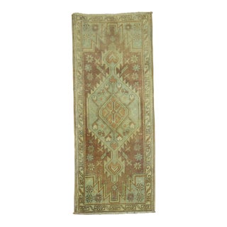 Vintage Muted Taupe Oushak Rug - 1'7'' x 3'4''