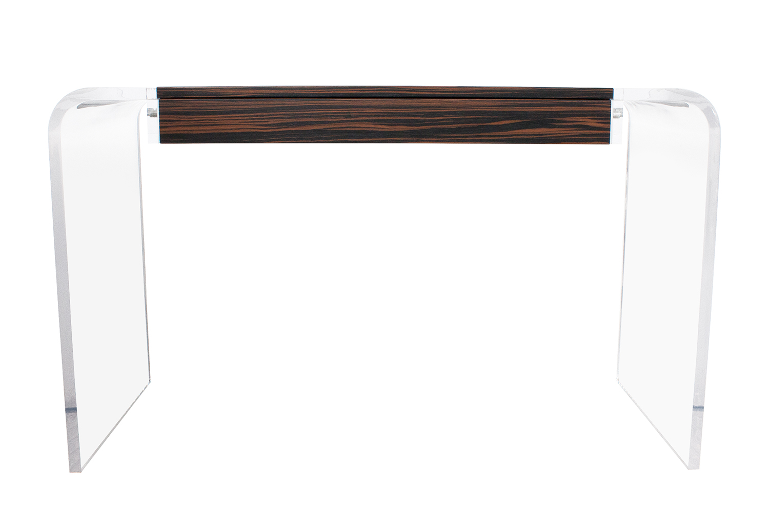 Macassar Ebony Lucite Waterfall Writing Desk Chairish