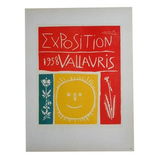 Picasso Mid 20th C Modern Lithograph-Printed By Mourlot 1959