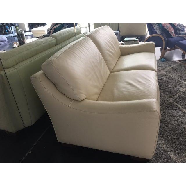 Roche Bobois Leather Sofa Sleeper - Image 4 of 9